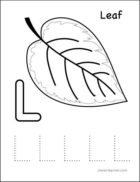 Letter L Writing And Coloring Sheet