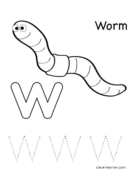 worm coloring pages for preschool - photo#12