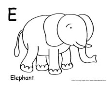 letter e colouring sheets