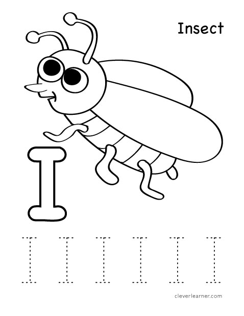 Letter I Writing And Coloring Sheet Coloring Activity Sheets