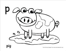 Letter P writing and coloring sheet