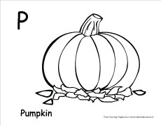 letter p colouring sheets