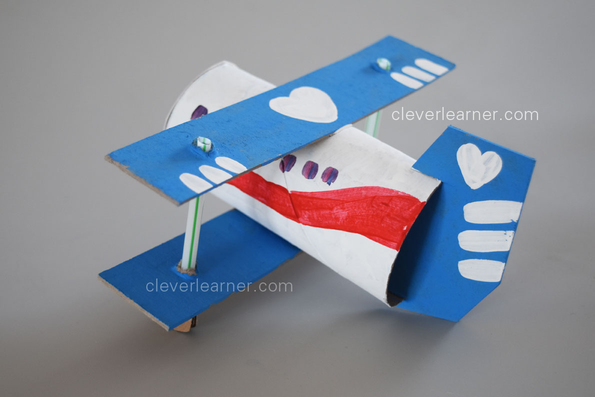 Step by step making of an airplane craft for Airplane crafts for toddlers