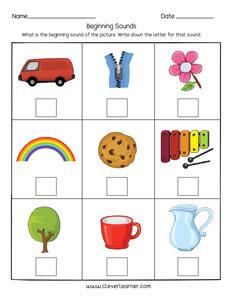 math worksheet : beginning sounds worksheets for preschool and kindergarten kids : Initial Sound Worksheets For Kindergarten