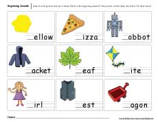 math worksheet : beginning sounds worksheets for preschool and kindergarten kids : Beginning Sounds Worksheets For Kindergarten