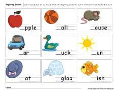 math worksheet : beginning sounds worksheets for preschool and kindergarten kids : Beginning Sounds Kindergarten Worksheets