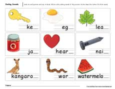 Worksheets Ending Sound Worksheets ending sounds worksheets for preschool and kindergarten kids fun sound activities parents end worksheet