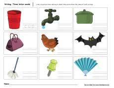 Middle sounds worksheets for preschool and kindergarten kids