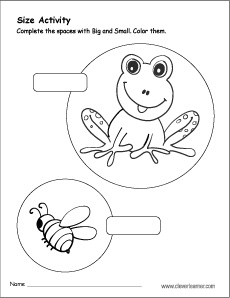 Complete With Big Or Small Activity For Preschool