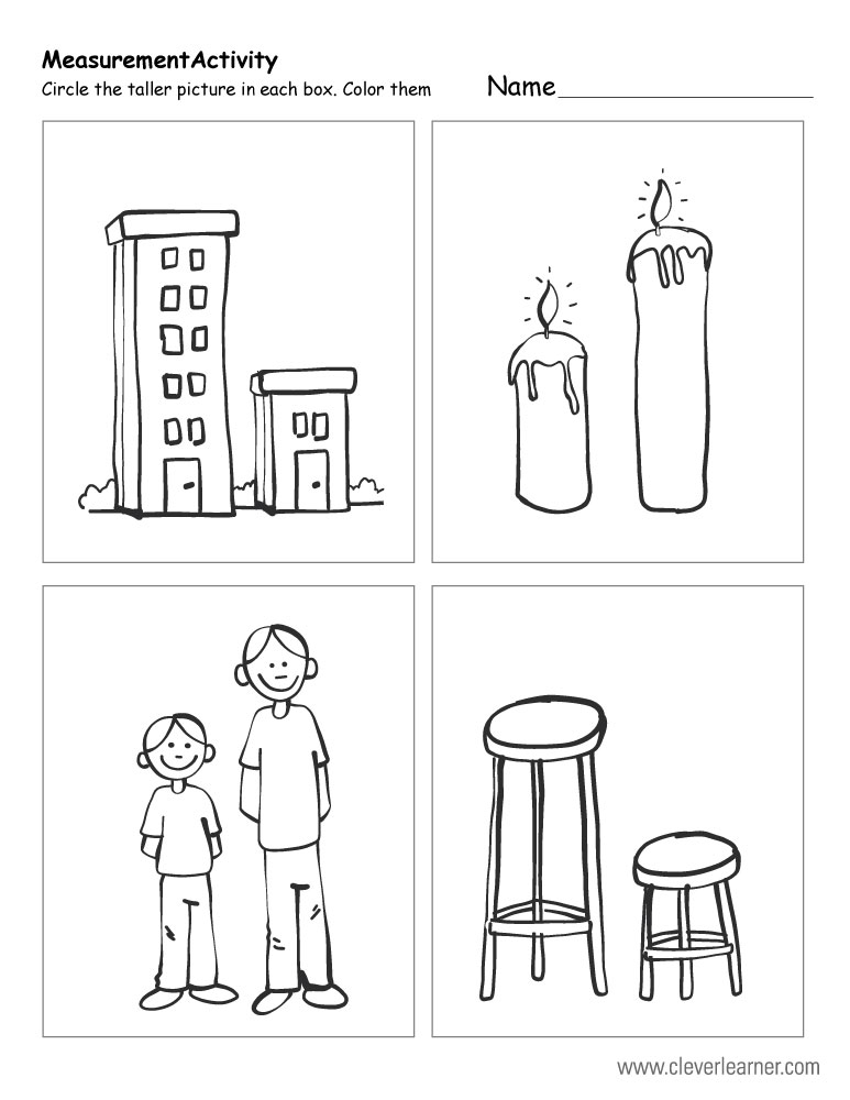 short and tall worksheet kindergarten short best free printable worksheets. Black Bedroom Furniture Sets. Home Design Ideas