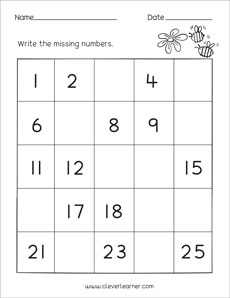 missing numbers counting backwards and number identification worksheets for preschool children. Black Bedroom Furniture Sets. Home Design Ideas