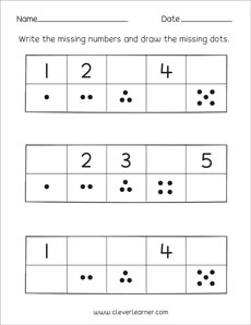 Missing numbers, counting backwards and number ...