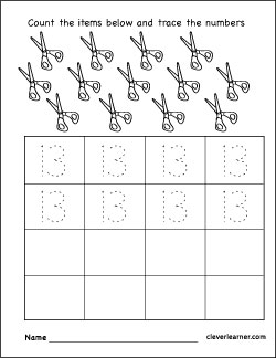 Number Coloring Worksheets For Preschool Children on skip counting by 3 worksheet