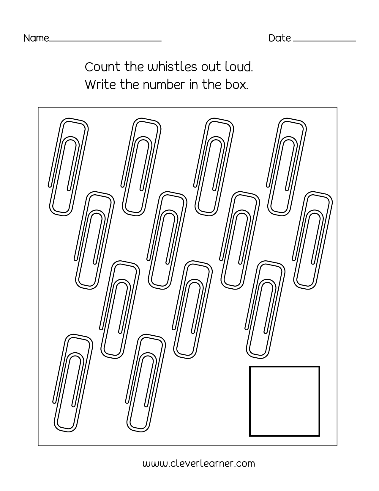 - Number 13 Writing, Counting And Identification Printable