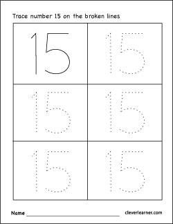 Number line worksheets missing numbers