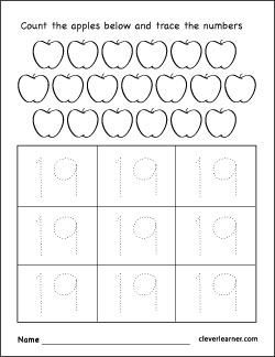 ... writing, counting and identification printable worksheets for children
