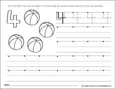 four corners writing activity for kids