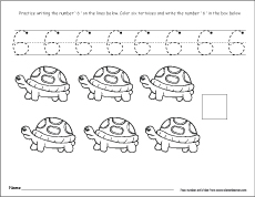 Number Six 6 Activity on Activities For Numbers 11 20