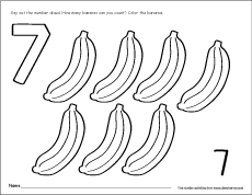 Number Seven Writing Counting And Recognition Activities For Children