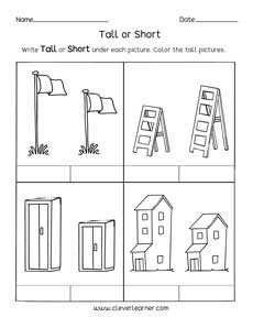 image about Printable Measurement Games identified as Totally free printable worksheets upon measuring dimensions, tall and limited.