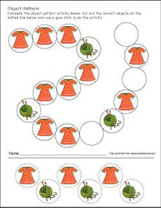 Complete the Pattern Worksheet - Turtle Diary