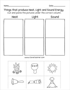 Sources of energy printables and worksheets for first grade ...