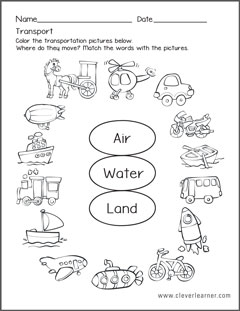 Transportation Theme Unit - Worksheets File Folder Games by The ...