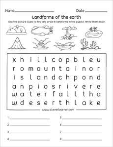 graphic regarding Landform Printable Worksheets known as Landforms printables and worksheets for kindergarten and