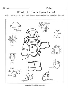 The solar system worksheets for kindergarten and preschool