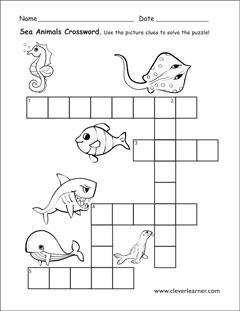 animals that live in water worksheets for preschools. Black Bedroom Furniture Sets. Home Design Ideas