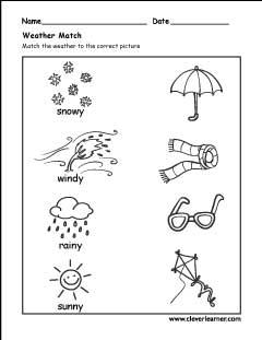 the weather worksheets for preschools. Black Bedroom Furniture Sets. Home Design Ideas