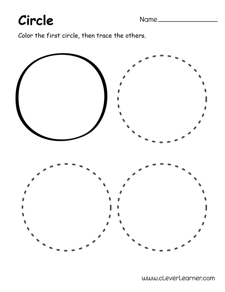 Circle Of Death Card Meanings: Circle Shape Activity Sheets For Preschool Children
