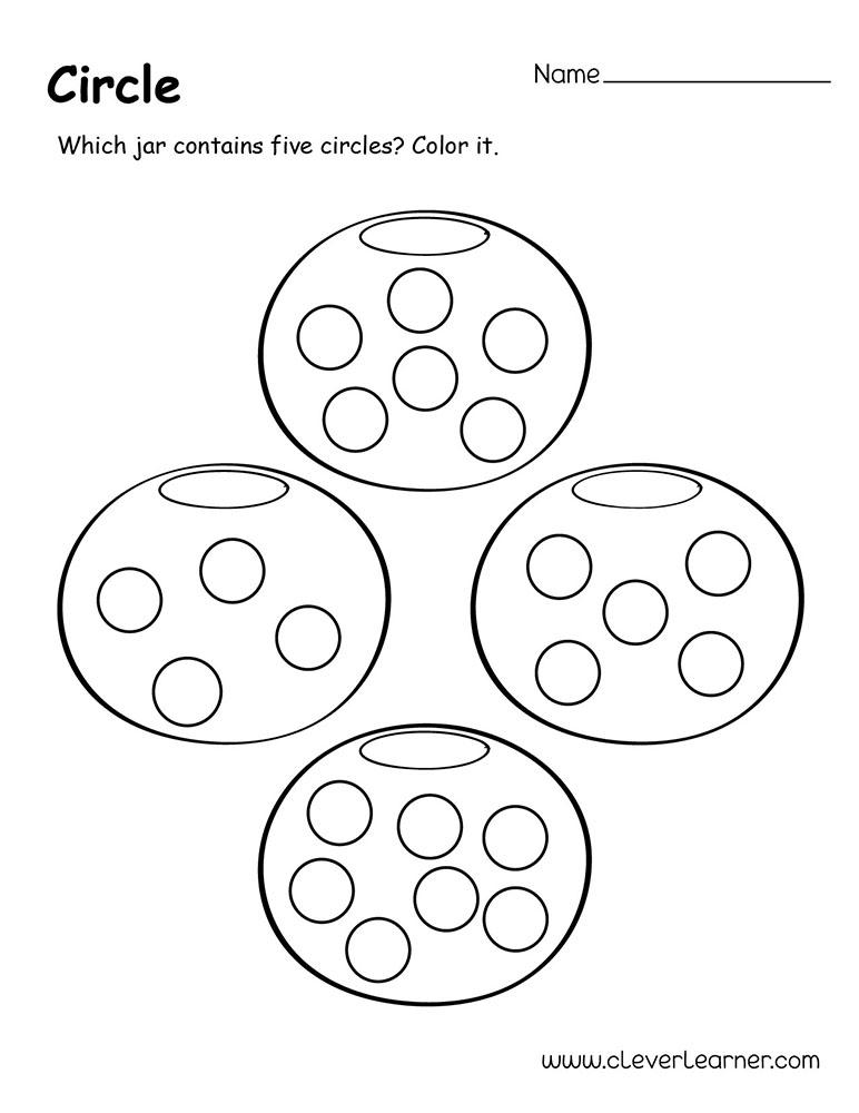 Circle Shape Worksheets For Kindergarten