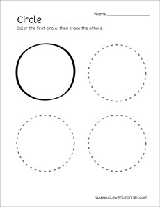 image regarding Printable Circle known as Circle form video game sheets for preschool young children