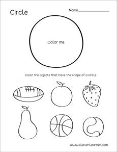 photograph regarding Printable Shapes Worksheets referred to as Circle form sport sheets for preschool youngsters