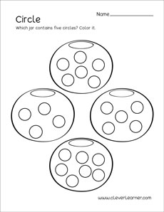 graphic regarding Printable Circle named Circle form match sheets for preschool young children
