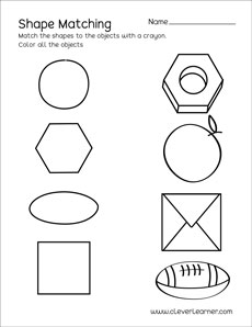 photo regarding Printable Shapes Worksheets named Circle condition match sheets for preschool kids