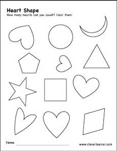 free heart shape activity worksheets for preschool children. Black Bedroom Furniture Sets. Home Design Ideas