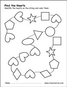 graphic about Printable Shapes for Preschoolers called Cost-free center condition game worksheets for preschool kids