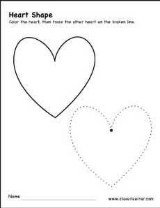 Free Heart Shape Activity Worksheets For Preschool Children