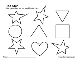 Star Shape Worksheets Worksheets for all | Download and Share ...