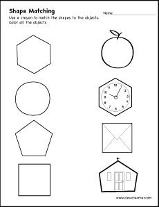 Kindergarten Worksheets  Colors    Shapes  Seasons  Clothes further Match the shapes and the objects and then       color them also Shapes Worksheets and Charts as well Pentagon shape activity sheets for children besides Circle shape activity sheets for pre children together with Solid 3D Shapes Worksheets besides 3D Shape to Name Matching Worksheet   All Kids  work additionally Match objects and shapes as well Matching Object with Shape  in Teaser Worksheets   1 further  likewise Shapes Worksheets for Kindergarten   K5 Learning also Color of objects worksheets   K5 Learning additionally Shapes Shape Worksheets Pre Diamond   Pre Worksheets as well Free Math Worksheets   Number Matching   MegaWorkbook besides  as well matching worksheets – nuripyramids info. on matching shapes to objects worksheets