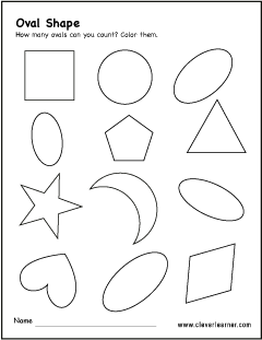 free oval shape activity worksheets for preschool children oval shape trace and color worksheet for preschool identify and count the  oval shape activity