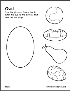 photograph about Printable Oval Shapes referred to as No cost oval form recreation worksheets for preschool little ones