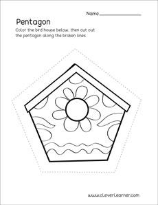 Pentagon Shape Activity Sheets For Preschool Children