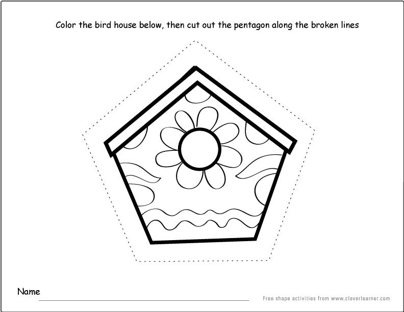 shape activity sheets for school children