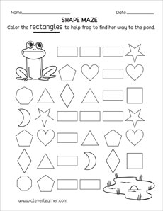 photo regarding Rectangle Printable identify Rectangle condition match sheets for faculty kids