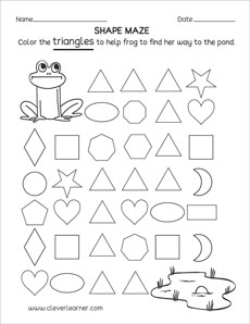 photo about Printable Triangles called Cost-free Triangle condition sport worksheets for university little ones