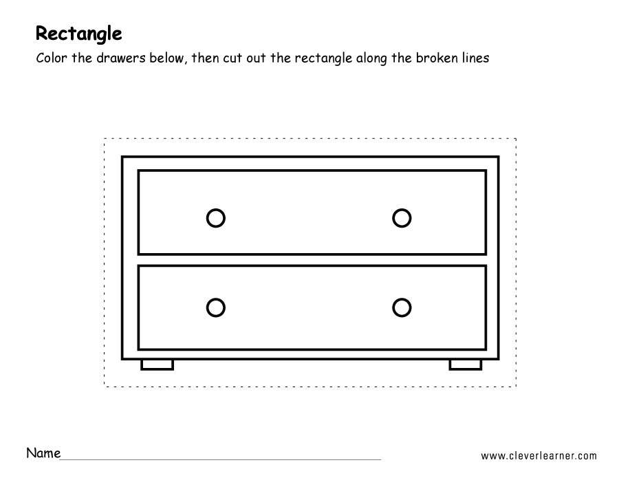Rectangle Shape Activity Sheets For School Children