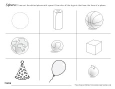 sphere shape fun activity sphere object worksheet kids - Fun Worksheets For Kids